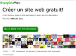 creer site internet gratuit everyoneweb